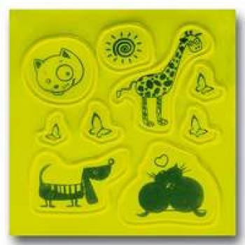 Artikel :   405430  Stickerset Funny Animals